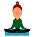 woman doing yoga on white background vector image