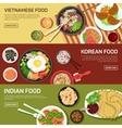 Asian street food web banner vector image