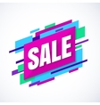 Sale banner colroful abstract shapes vector image