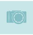 Photo camera symbol vector image