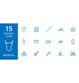 15 medieval icons vector image vector image