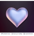 3d heart shape with shadows and highlights vector image vector image