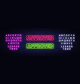 approved neon text design template vector image vector image