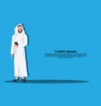 arabic business man using smartphone wearing vector image vector image