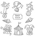 art of circus element doodles vector image vector image