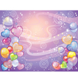 Background with balloons violet vector image vector image