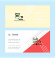 beach abstract corporate business banner template vector image vector image