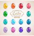 big set of easter eggs vector image