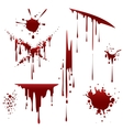 Bloody horror scruffy splatter vector image vector image