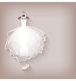 bride dress and wreath vector image vector image