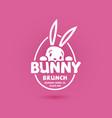 bunny brunch postcard vector image vector image