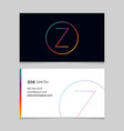 business-card-letter-z vector image vector image