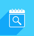calendar icon with research sign vector image vector image