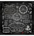 Chalkboard Christmas Set vector image vector image