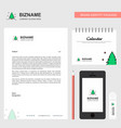 christmas tree business letterhead calendar 2019 vector image