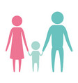 color silhouette set pictogram parents with a vector image vector image