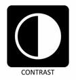 contrast icon symbol vector image vector image
