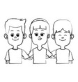 cute kids friends cartoon vector image vector image