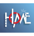 Decorative letters forming word HOME vector image