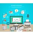 Designer Workspace Concept vector image