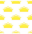 diadem golden king crown seamless pattern vector image