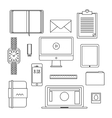 Flat design thin line icons set vector image vector image
