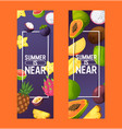 fruits pattern fruity apple banana and vector image vector image