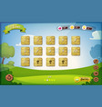 game user interface design for tablet vector image vector image