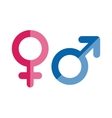 gender icons set vector image vector image
