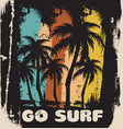 go surf quote typographical background vector image vector image