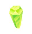 green yellow crystal precious gemstone or vector image vector image