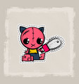 halloween stitch cat zombie kitty voodoo doll vector image vector image