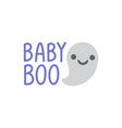 hand drawn a kawaii funny ghosts with text vector image vector image