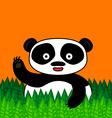 Happy panda smiling and waving vector image vector image
