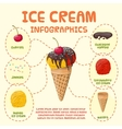 Ice-cream infographics vector image vector image