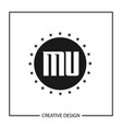 initial letter mu logo template design vector image vector image