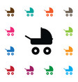isolated stroller icon transportation vector image