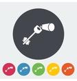 Key flat icon vector image vector image