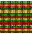 Knitted pattern with rastafarian stripes vector image