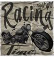 legendary vintage racers t-shirt label design vector image vector image