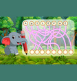 logic puzzle game for study english with elephant vector image