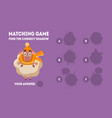 matching game with cute sheep find correct vector image