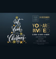 merry christmas party poster greeting golden vector image vector image