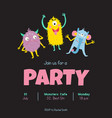 monsters invitation vector image