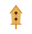 nesting box on a white background vector image vector image