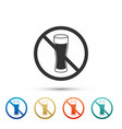 no alcohol icon isolated on white background vector image