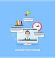 online webinar concept banner vector image vector image