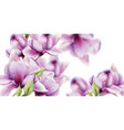 orchid flowers watercolor summer floral pattern vector image vector image