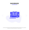 our services application file smartphone tablet vector image