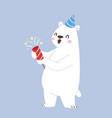 polar white bear animal cute beauty vector image vector image